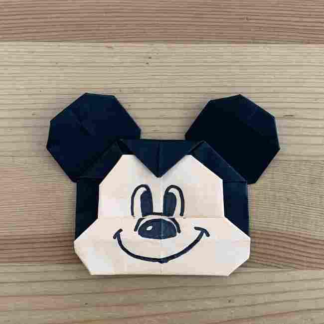 折り紙 ディズニーのミッキー&ミニーの折り方・作り方 (25)